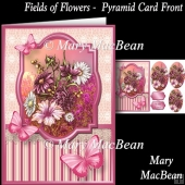 Fields of Flowers Pyramid Card Front