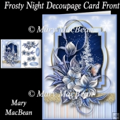 Frosty Night Decoupage Card Front