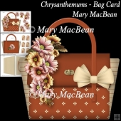 Chrysanthemums - Bag Card