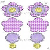 Little Doodles Gingham Flower 01