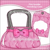 Pink Sparkle Handbag Card