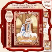 CHRISTMAS NATIVITY 7.5 or A5 Decoupage Card Kit