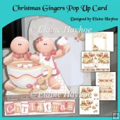 Christmas Gingers Pop Up Card