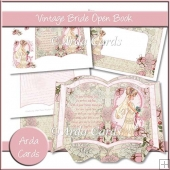 Vintage Bride Open Book