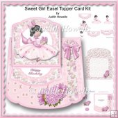 Sweet Girl Easel Topper Card Kit