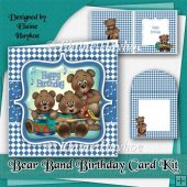 Bear Band Birthday Card Kit