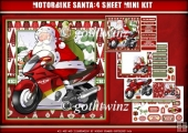 Motorbike Santa 4 Sheet Mini Kit