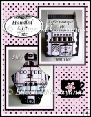 Cottage Chic Coffee Boutique Handled Gift Tote