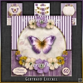 Vintage Butterflies and Flowers Card Kit 1051