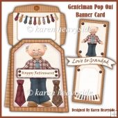 Gentleman Pop Out Banner Card