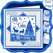 CHRISTMAS MONOTONE ALL IS CALM 7.5 Quick Layer Card & Insert