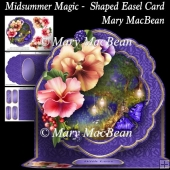 Midsummer Magic - Shaped Easel Card
