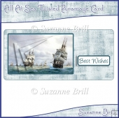 All At Sea Twisted Pyramage Card