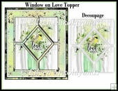 Window on Love Card Topper with Decoupage