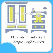 BLUE BEDROOM CLIPART
