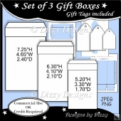 Set of 3 Gift Boxes Templates