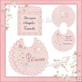 A PRETTY SCALLOPED BIB CARD
