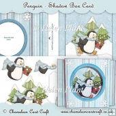 Penguin Shadow Box Card