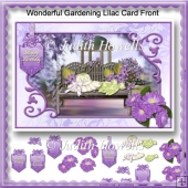 Wonderful Gardening Lilac Card Front