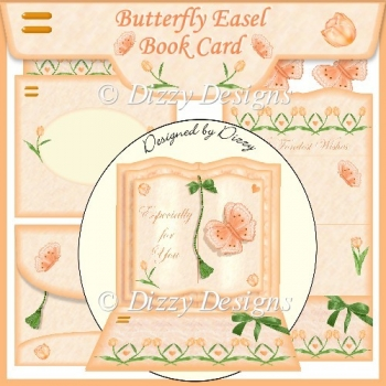 Butterfly Easel Book Card