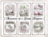 Romance of a Letter Set of SIX Toppers