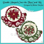 Double Cranberry Shaped Over The Top Cards