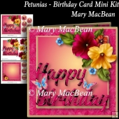 Petunias - Birthday Card Mini Kit