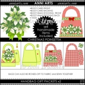 Christmas Poinsettia Handbag Gift Packets
