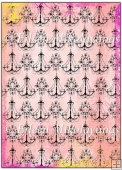 Trendy Damask Chandeliers Background Paper