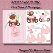 BABY27 DADDY'S GIRL A5 CARD FRONT & DECOUPAGE
