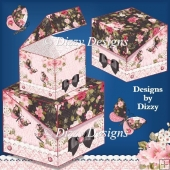 Blossoms, Blooms & Butterflies Flip Lid Boxes