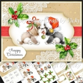 Vintage Puppy Christmas 1