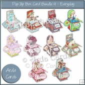 Pop Up Box Card Bundle 4 - Everyday