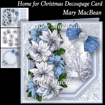 Home for Christmas Decoupage Card