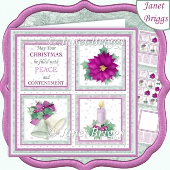 CHRISTMAS PEACE 7.5 Decoupage & Insert Kit