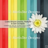 A Day Outside Card Stock Digital Papers {A4 size}