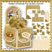Golden Christmas Pop Up Box Card Kit
