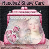 Handbag Shape Card Vintage pink