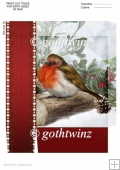 Snowy Robin Mini Gift Bag