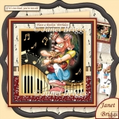 Have a Rockin' Birthday Male 8x8 Decoupage Kit