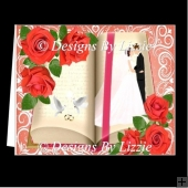 Wedding Roses Card, Insert and Matching Box