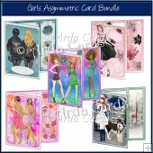 Girls Asymmetric Card Bundle
