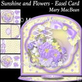 Sunshine and Flowers Easel Card
