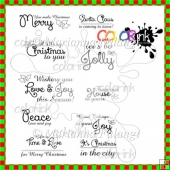 ~Christmas~ Sentiments - Digital stamps