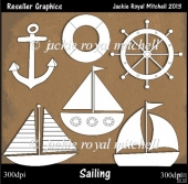 Sailing Colour Your Own Reseller Clipart