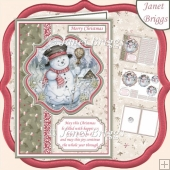 SNOWMAN A5 Portrait Christmas Pyramage & Insert Kit