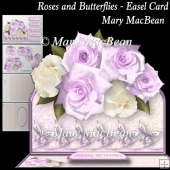 Roses and Butterflies - Easel Card