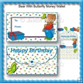 Bear With Butterfly Money Wallet