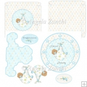 Ethnic Baby Boy Plate Card and Box