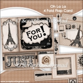 Oh La La 4 Fold Flap Card & Envelope